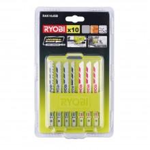 Набор пилок для лобзика RYOBI RAK10JSB (10 шт.)
